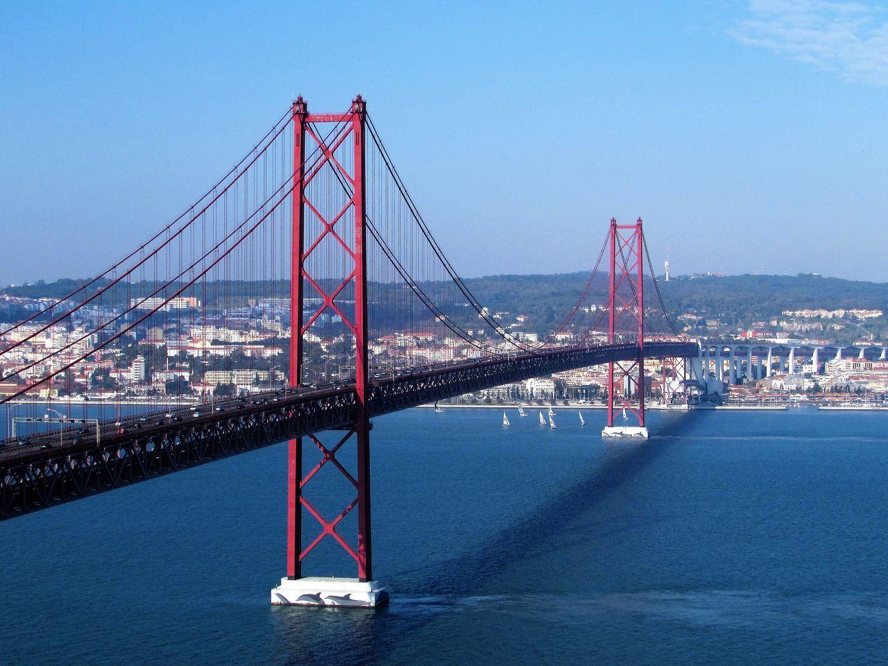 Brigde Lisboa PontesobreoTejo Portugal Rio Tejo Suspension Bridge Tejo River Tejoriver Tourism