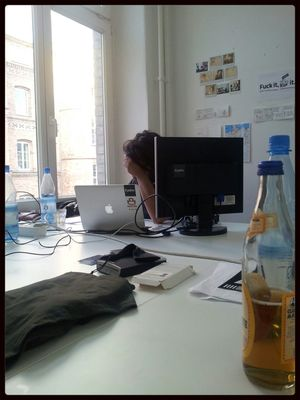 Working hard at EyeEm HQ by Łukasz Wiśniewski