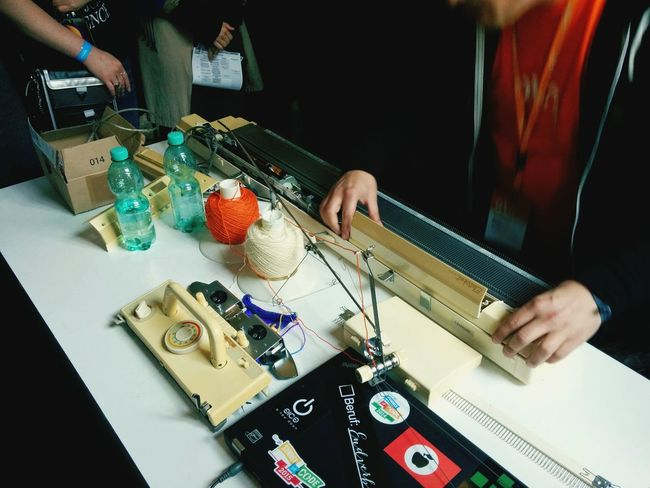 Hacking a Knitting machine at the Ots15