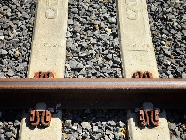 Conversion Close-up Pebble Gravel Railroad Track Detail Railroad Ties