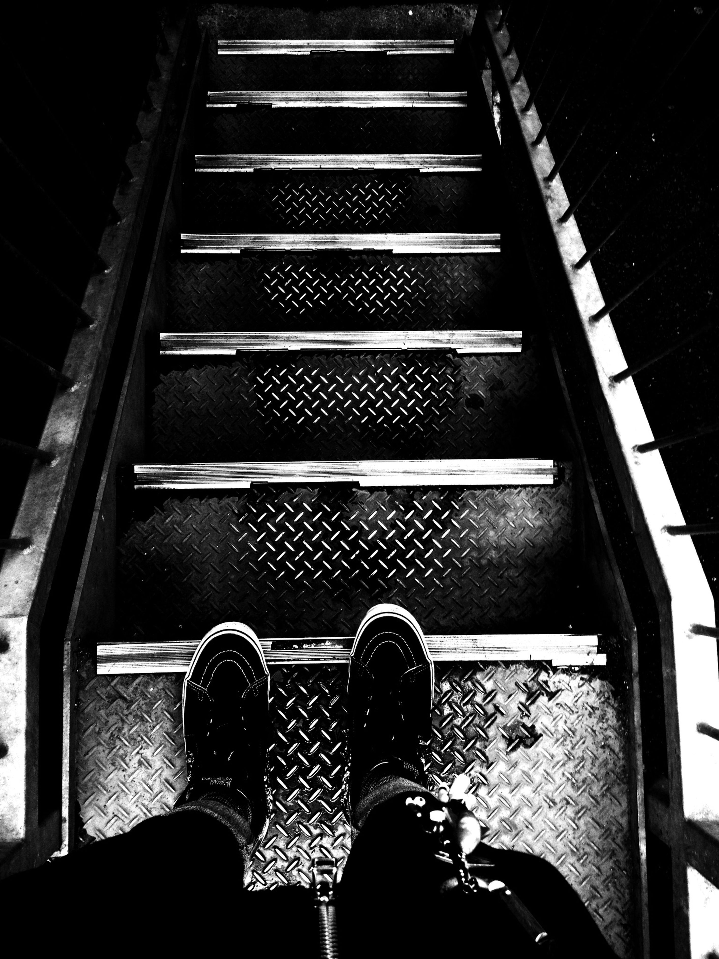 indoors, men, lifestyles, escalator, leisure activity, standing, low section, person, steps, steps and staircases, staircase, unrecognizable person, railing, technology, rear view, personal perspective