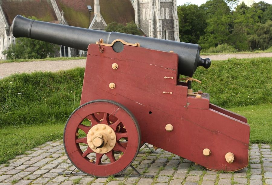 Cannon Canon Weapon History Grass Day Wheel No People War Outdoors Tree Military Nature Denmark Kastellet