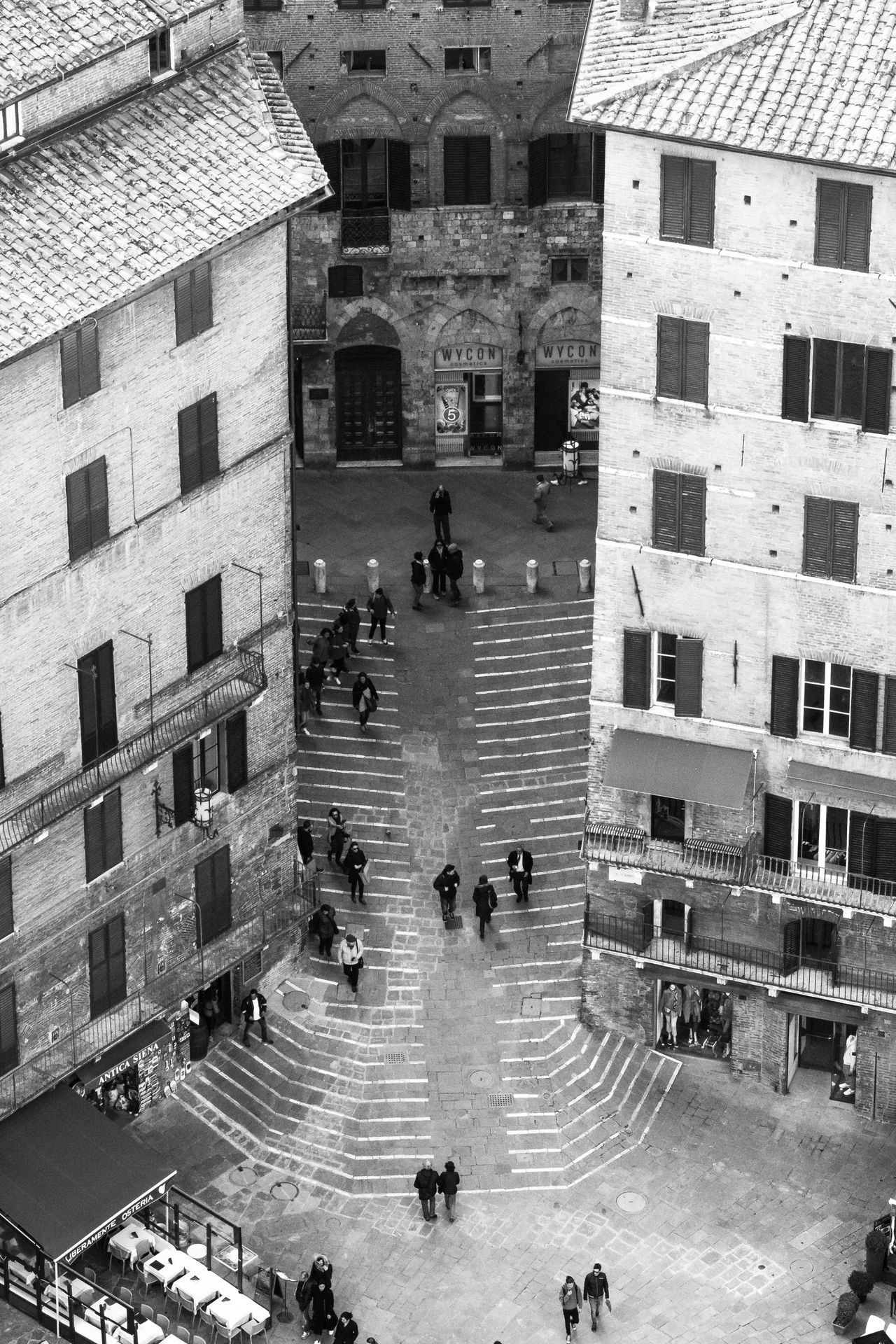 Architecture Building Exterior City High Angle View Outdoors Piazza Del Campo Real People Siena First Eyeem Photo