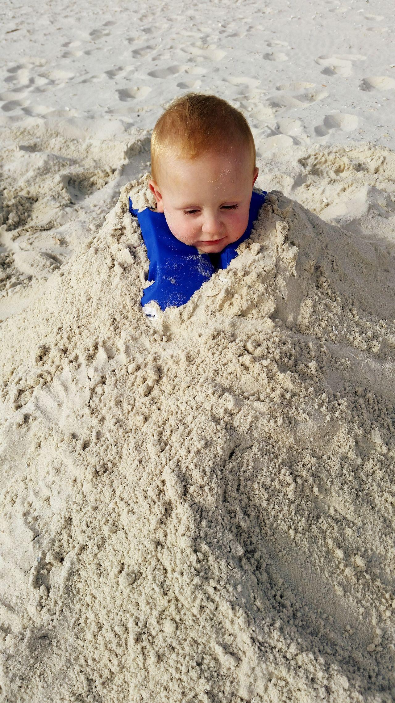 Beach Buried In Sand Toddler  Fun