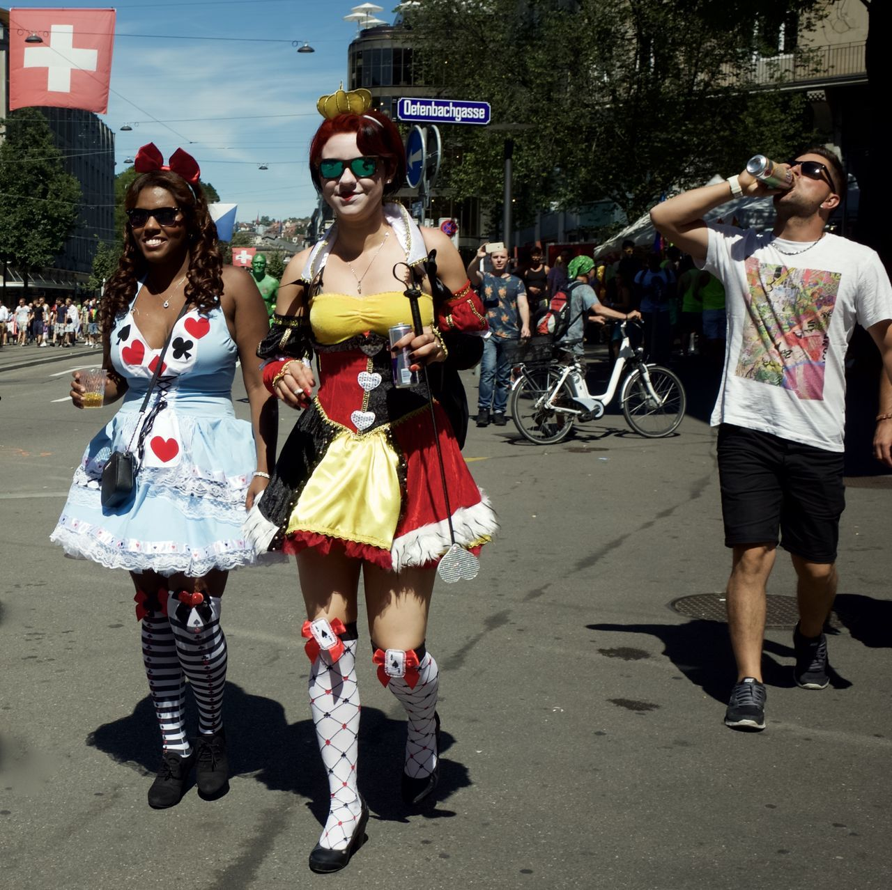 had a break to view to the people going to the street parade 2016 in Zürich Disguised Enjoying Life Enjoying The Sun Fun Funtimes Hello World Rave Raveparty Ricohgr2 Streetparade Zurich Streetparade2016 Sun-fun Switzerland_2016 Zürich Leisure Activity Festival Fever Festival Season Shaking Hips
