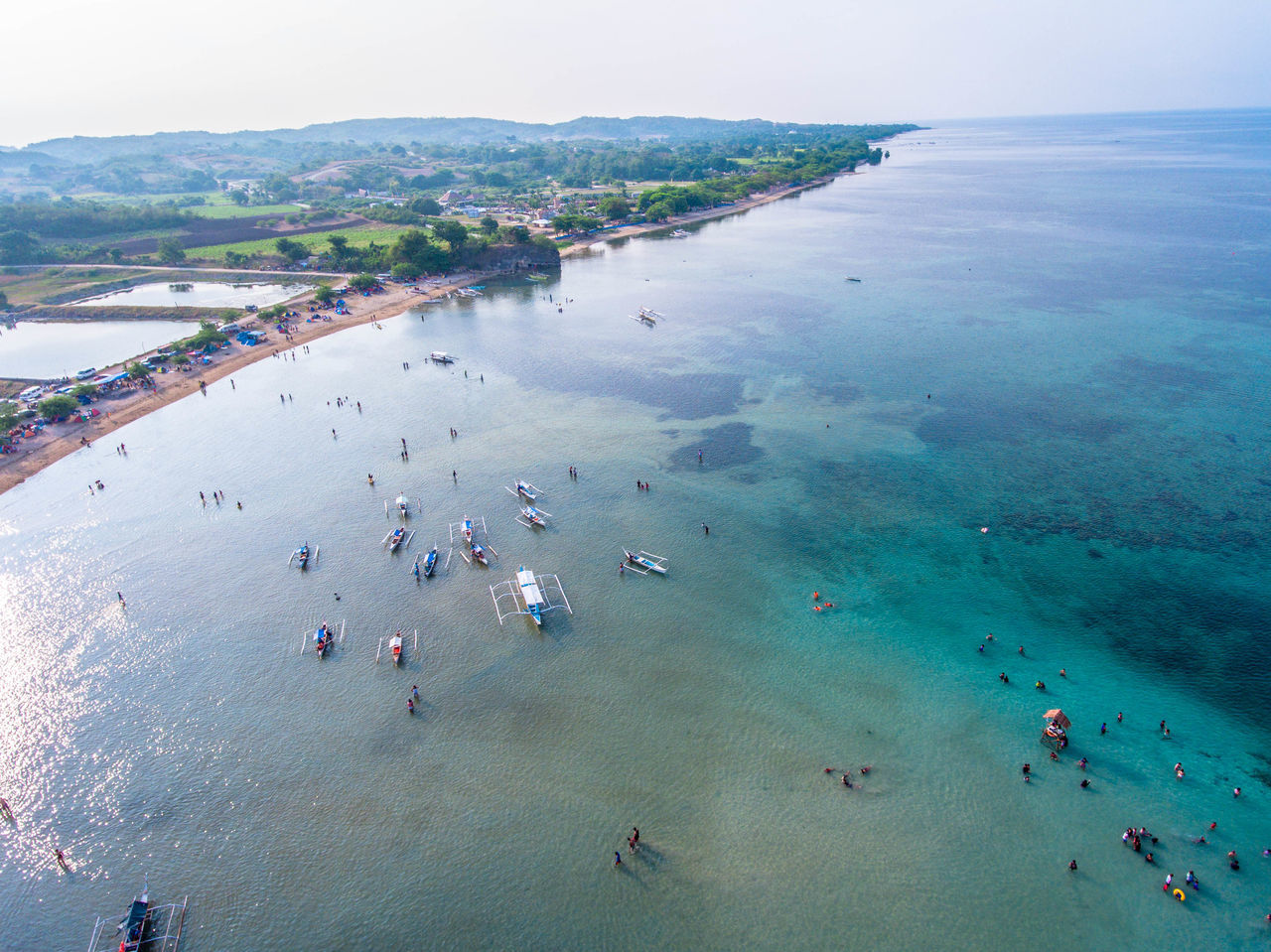 Aerial View Beach Beauty In Nature Day EyeemPhilippines High Angle View Horizon Over Water Large Group Of People Men Mountain Nature Nautical Vessel Outdoors People Real People Sand Scenics Sea Sky Travel Destinations Vacations Water
