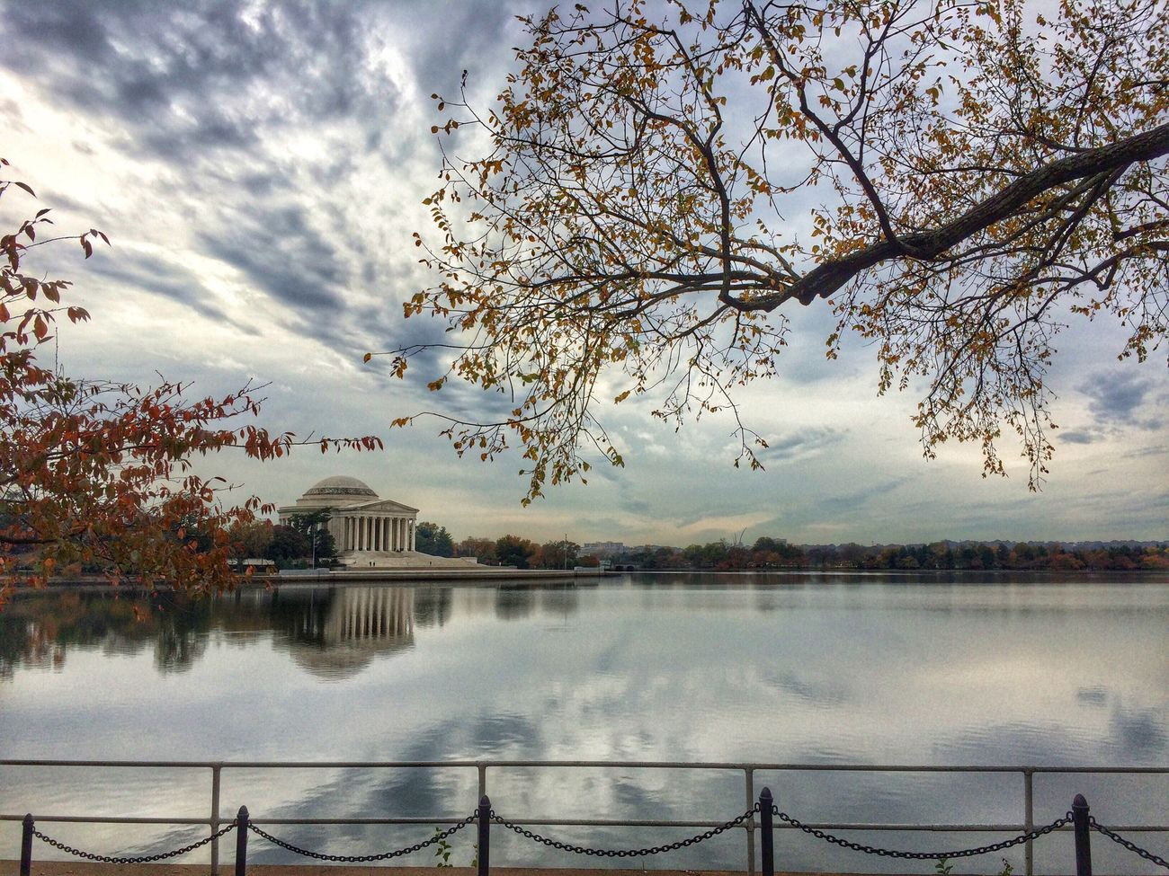 Just a moment in my day. Biking Jefferson Memorial