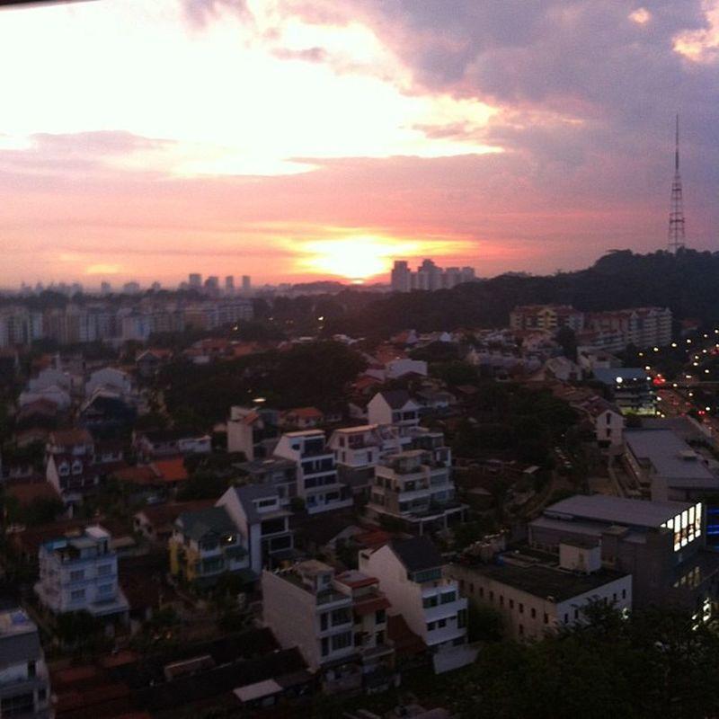 Sun set view from 19th floor. Nofliter Bukittimah