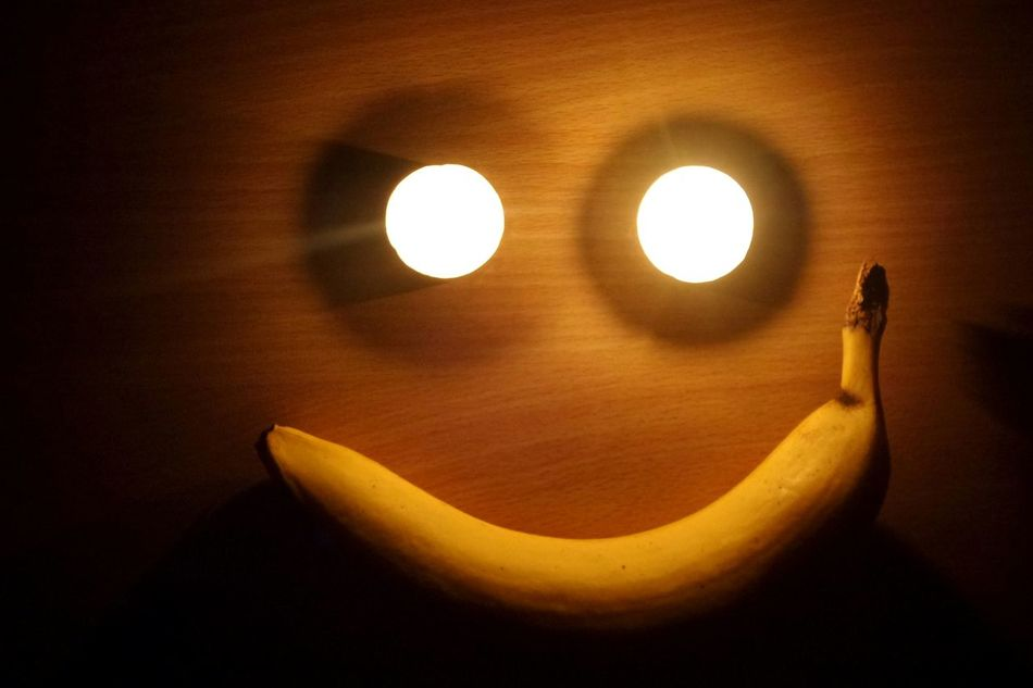 Face Banana Candles Smile Happy