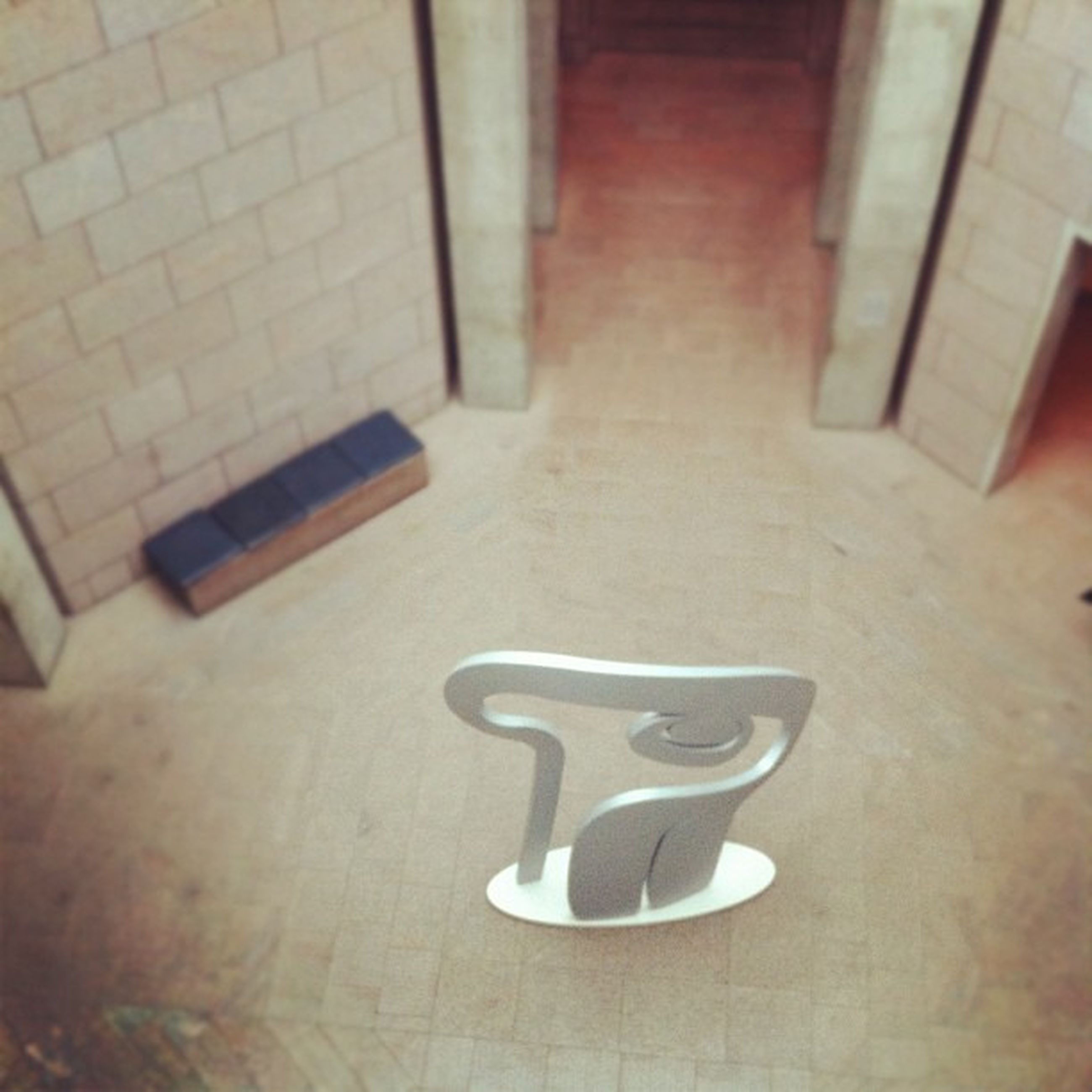 indoors, absence, flooring, wall - building feature, empty, table, still life, no people, high angle view, home interior, chair, architecture, tiled floor, door, built structure, wood - material, wall, tile, floor, domestic room
