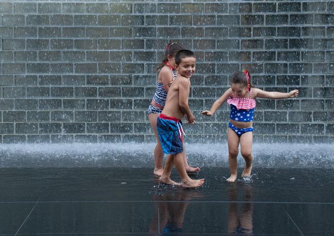 Summer fun Children Enjoying Life Fun Outdoors Summer Summertime Water Reflections