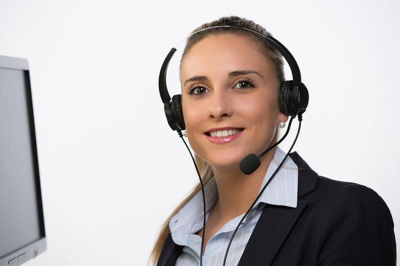 Business Call Center Corporate Desk Executive  Headphones Internet Lifestyle Man Office Woman Worker