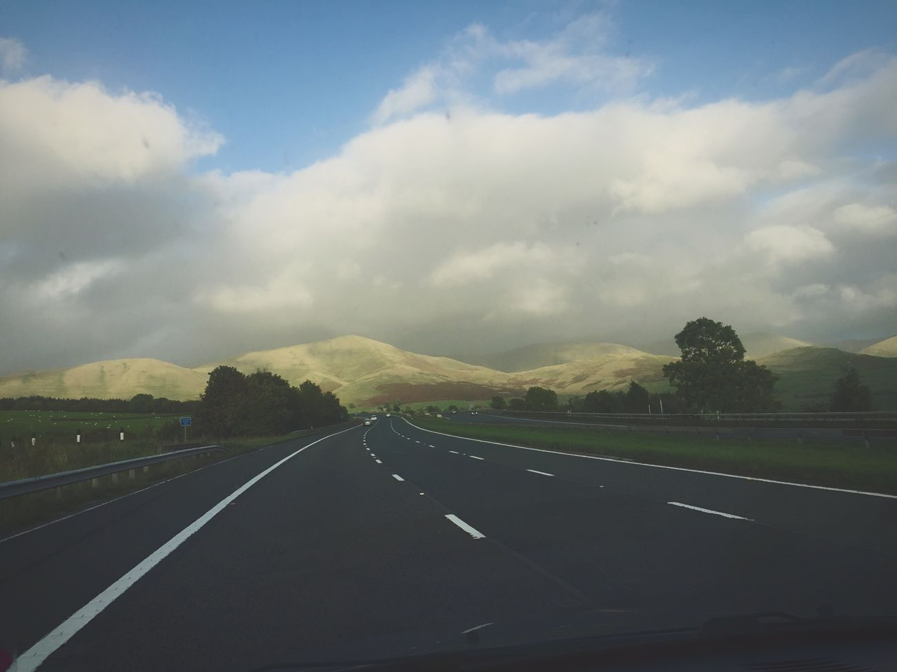 U.K. Road Trip Road Journey Hills Mountains Clear Sky Travel Destinations