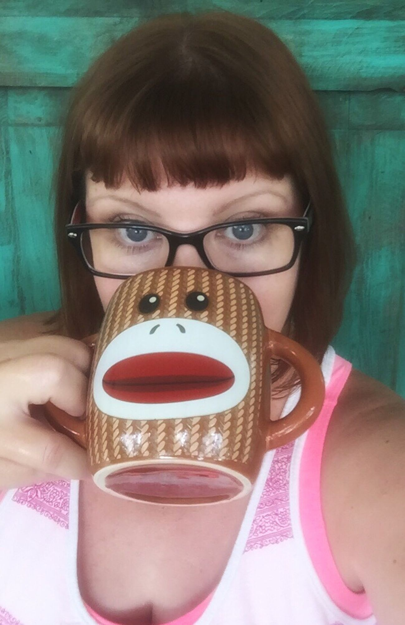 Coffee selfie Coffee Coffee Time Selfie ✌ Sockmonkey