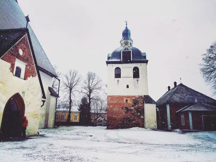 EyeEmNewHere Building Exterior Religion Winter Place Of Worship Cold Temperature Outdoors Day Finland Town
