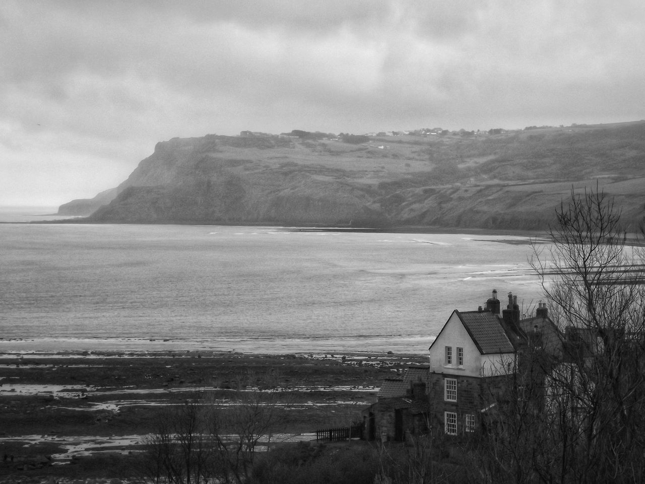 Taken at Robin Hood's Bay Whitby on a very wet and cold morningRobin Hoods Bay HDR Eye For Photography Showcase April EyeEm Hdr-Collection Fujifilm Whitby See The World Through My Eyes Black And White Portrait Monochrome Black And White Collection  Eyeem Black And White Photography Black And White Scenery Bnw_collection Creative Light And Shadow Gray Day Black & White Monochrome Black & White Photography Coastline Coastal Walk