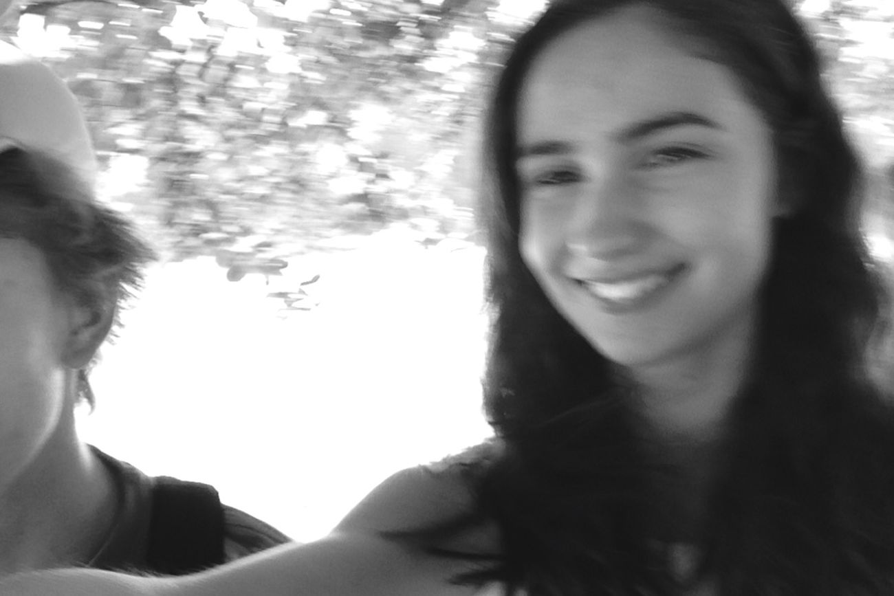 Smile Teen Girl Trip Laugh Blackandwhite Outside Fun Capturing Movement Captured Moment