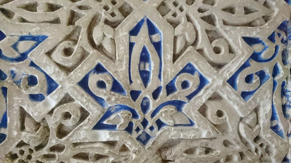 Full Frame Pattern No People Close-up Taking Photos Day España Sevilla Photooftheday XperiaZ5 Alcazar Xperiaphotography Blue & White