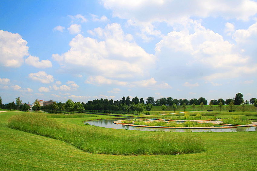 Beauty In Nature Cloud - Sky Day Garden Grass Green Green Color Italia Italy Landscape Nature Nature No People Outdoors Piemonte Scenics Sky Torino Travel Destinations Tree Trees Vacations Venaria Venaria Reale