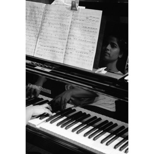 The Pianist Rehearsal for a Westernclassical Concert at the Littletheatre at the the NCPA Mumbai Fujifilm Fuji Xe1
