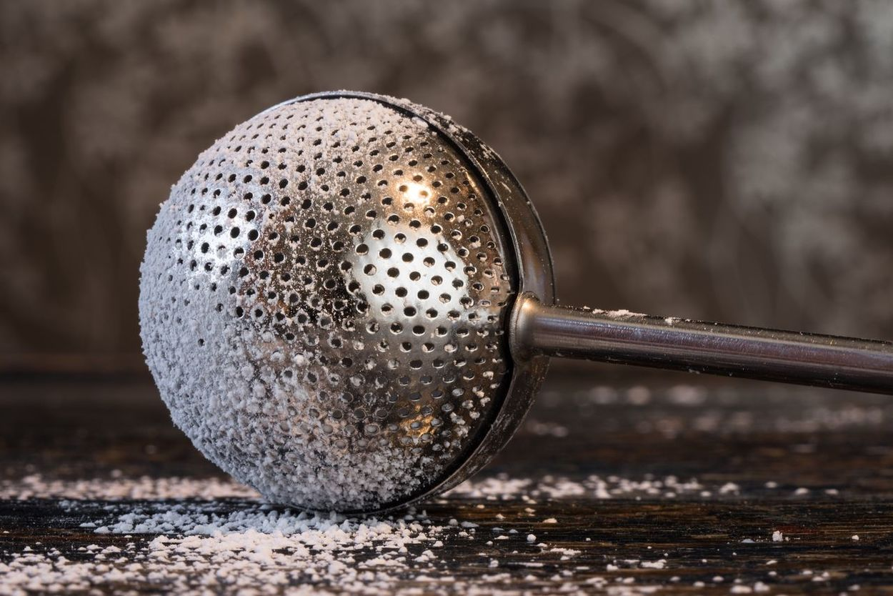 Powdered sugar duster Metal Close-up No People Düster Sifter Kitchen Gadget Utensil