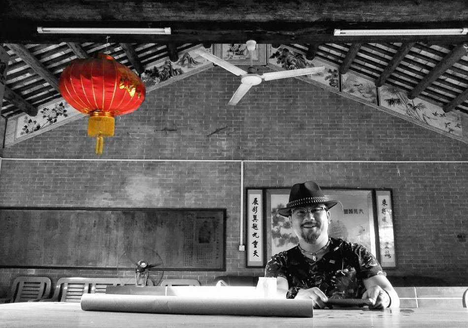 Chinese New Year Creativity Red Lifestyles Front View Adults Only One Person Real People Men People Indoors  Black And White Photography The Phoblographer EyeEm China China Photos Black & White Black Color Black Background Adult Only Men One Man Only Day
