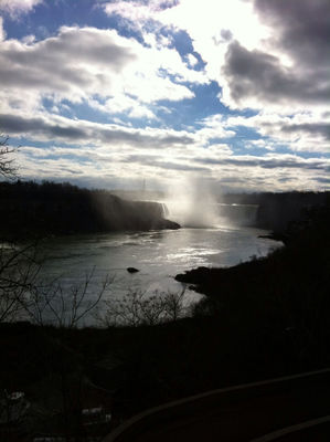 Checking in at Maid Of The Mist - Canada entry by Atiq