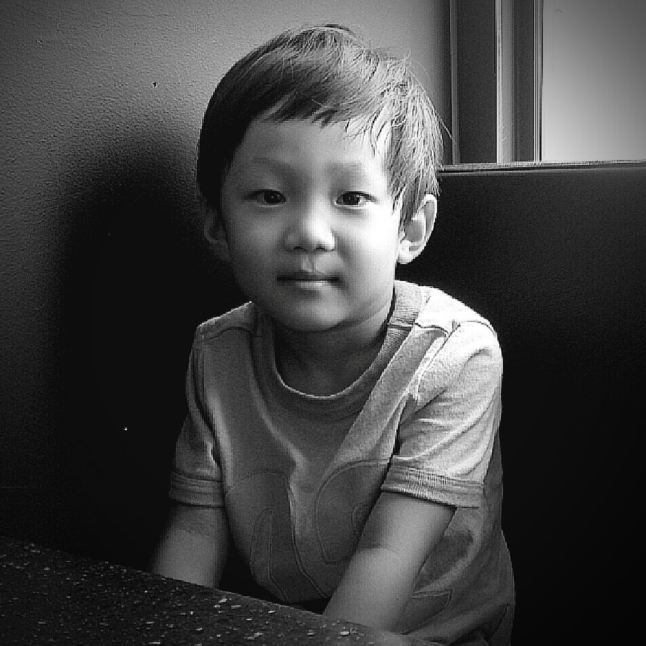 My lovely son Blackandwhite Portrait