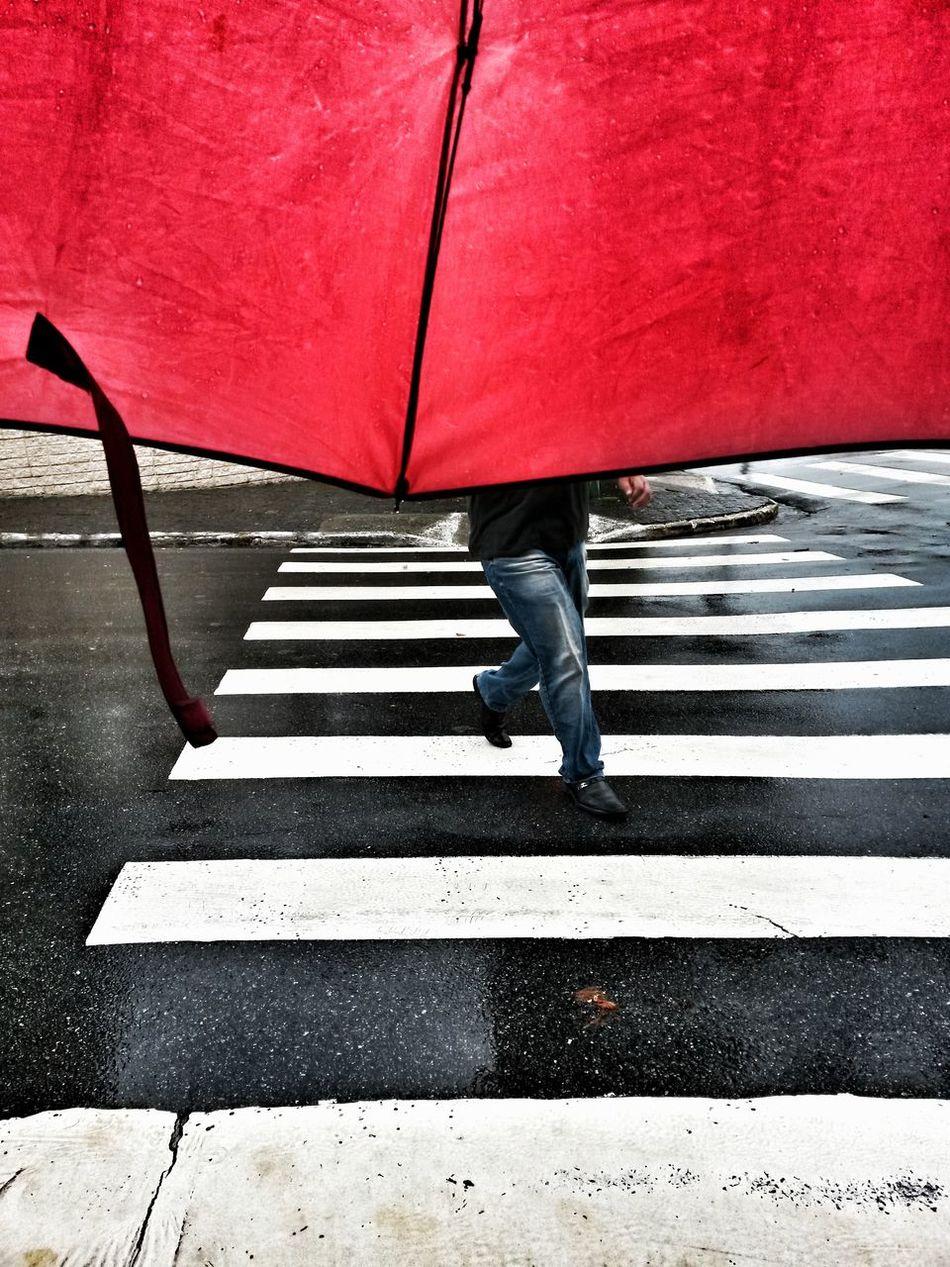 One Person Red Real People Human Body Part Street Streetphotography Street Photography The City Light Summertime Umbrella Umbrella Street Redumbrella EyeEm Best Shots EyeEm Gallery Stripes Everywhere Welcome To Black