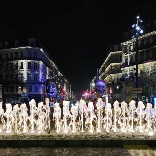 Lille France Lille3000 Art Culture Architecture Lights Waterfall Water Buildings