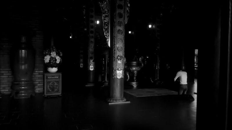 Pray Spiritual Black & White Black And White Monochrome Monochromatic Mobile Photography Pagoda Vietnam
