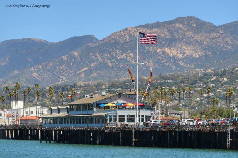 Sending A Postcard From Santa Barbara's Stearns Wharf Waterfront Pier Wharf Coastline Landscape Ocean Coastal Landscape California Coast Live For The Story