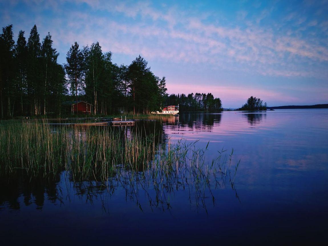 Water Lake Nature Calm Water Finnish Summer Finnish Lake Saimaa Nature Steamboat