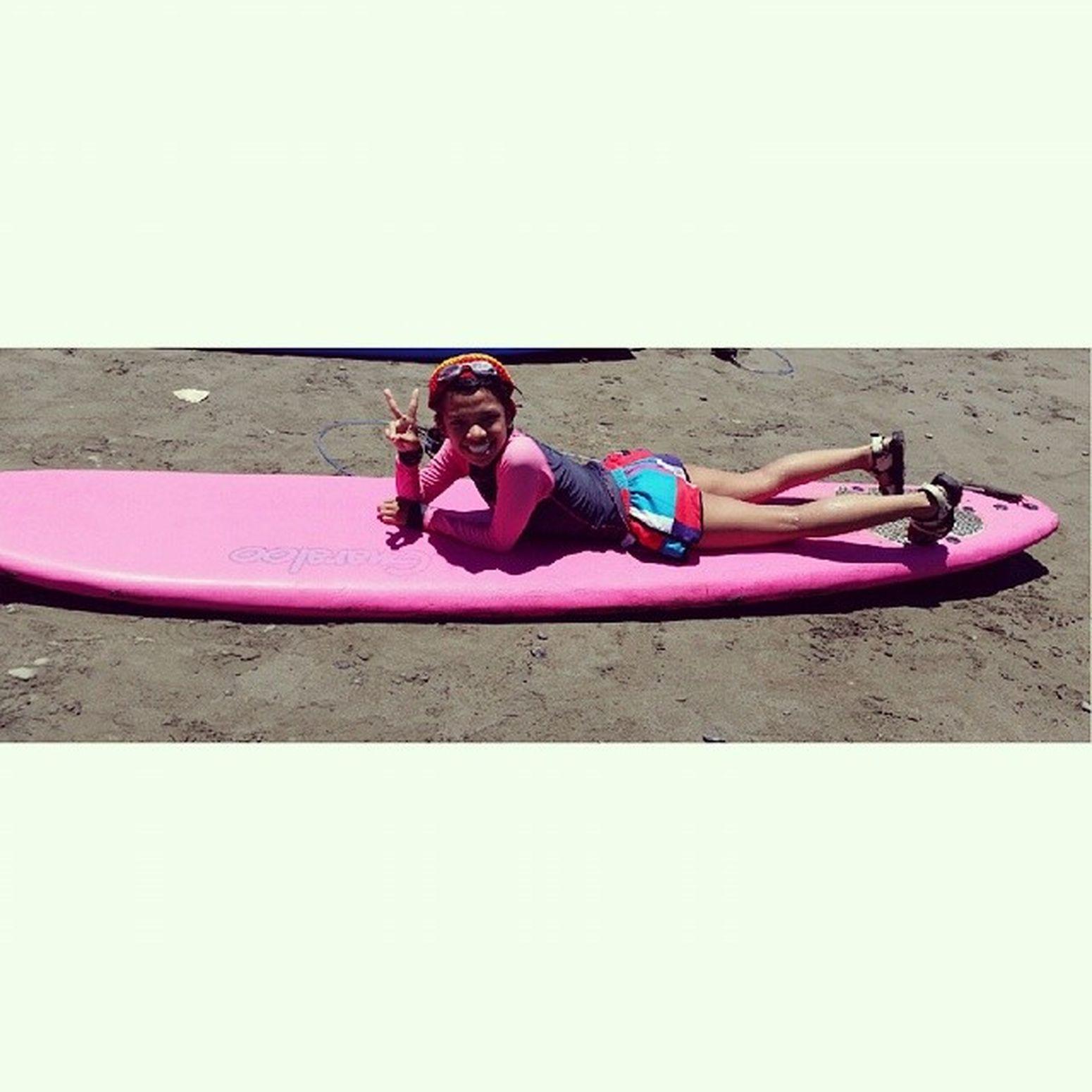 InternationalSurfingDay PangarapnaSurfboard Pink 💛💙💜💚🌊🌊🏄🏄🏄 nakakamiss!! 😄😊😃☺