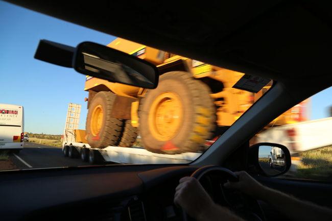 Australia Big Wheeler Big Wheels Car Close Call Close-up Driving Passing By Speeding Transportation Truck