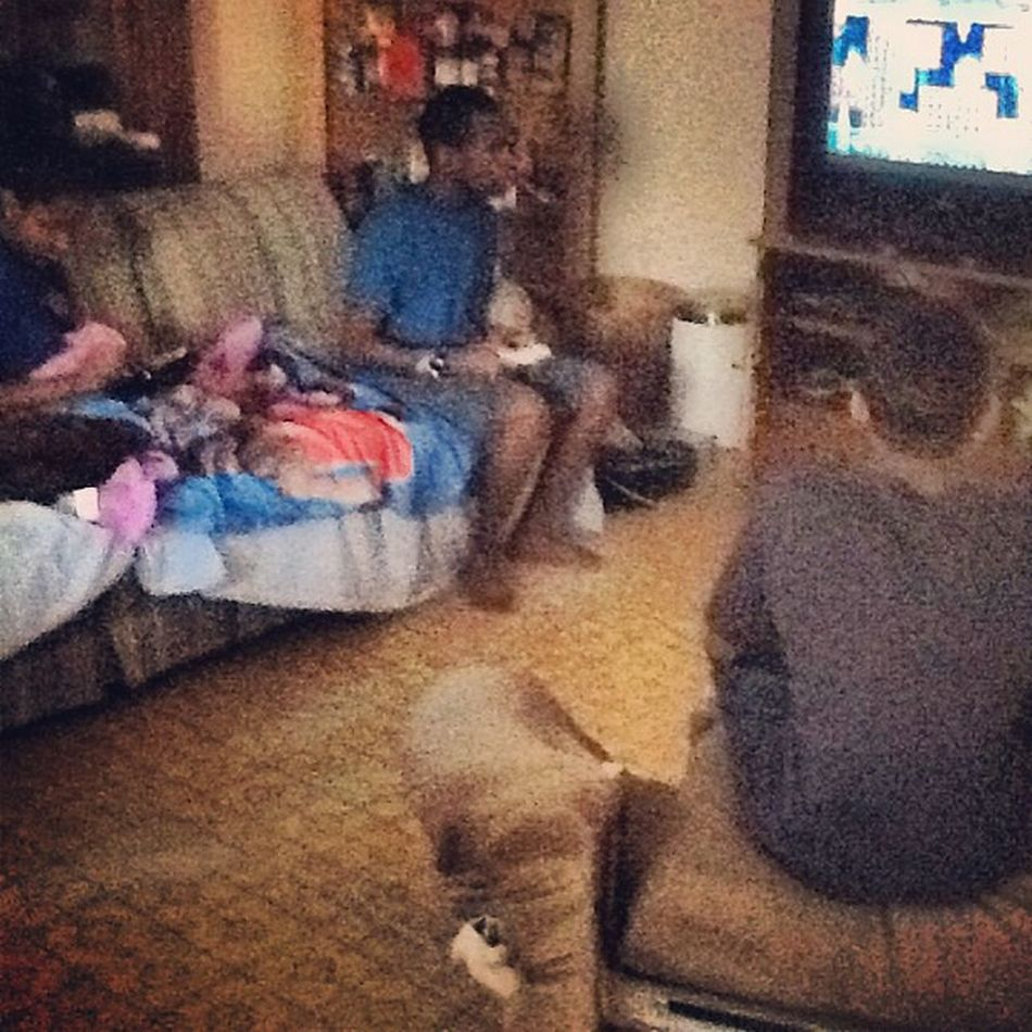 This is Us playing with our cousin WiiU on MarioBrosU .