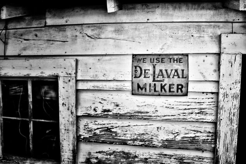 Abandoned Buildings Abandoned Places Abandoned Window Run Down Places Old Buildings Old Slat Wall Wood Noir Wall Blackandwhite Old Sign Milk