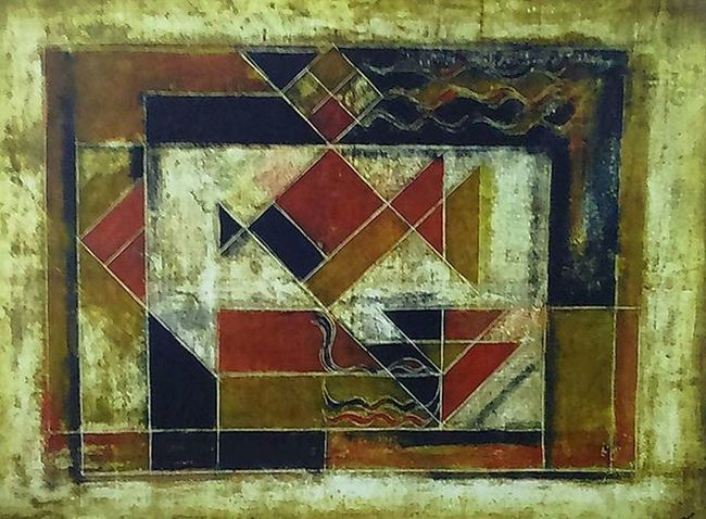 SayedHaider Raza (born 1922)Geometric Composition 1979 Oil On Canvas Considered The First Modern Indian painterToday Enjoys A High International Reputation