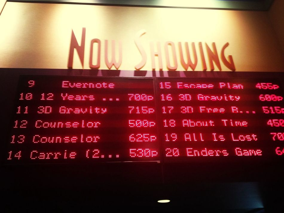 Evernote rented a movie theater for the premiere of 'Ender's Game'. Awesome!