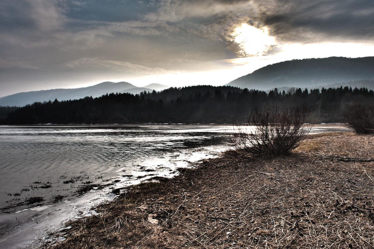 Cerkinca Cloud Lake Landscape Outdoors Sky Slovenia Sunset Tranquil Scene