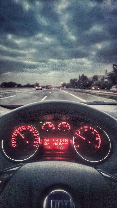 Mi Mundo  Conduciendo Autopista Car Relax Enjoy My Word Happy Fiat My Photo