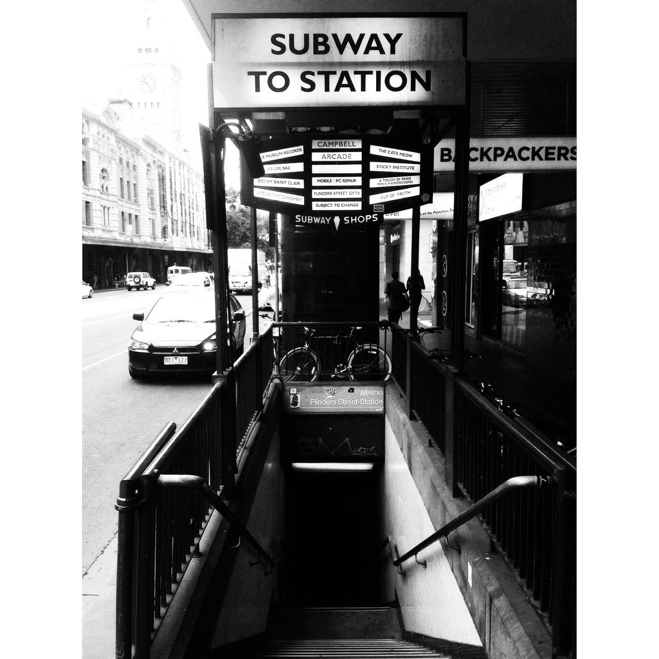 Flinders Street Railway Station Subway Subway Station Train Station Flinders St #Melbourne
