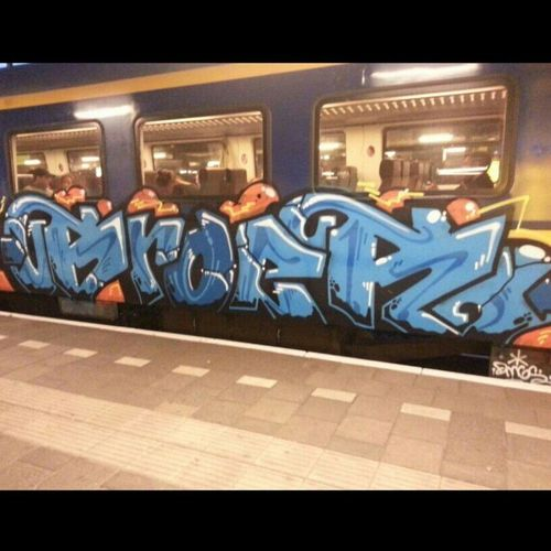 Streetart Graffiti Trainart 020 #amsterdam