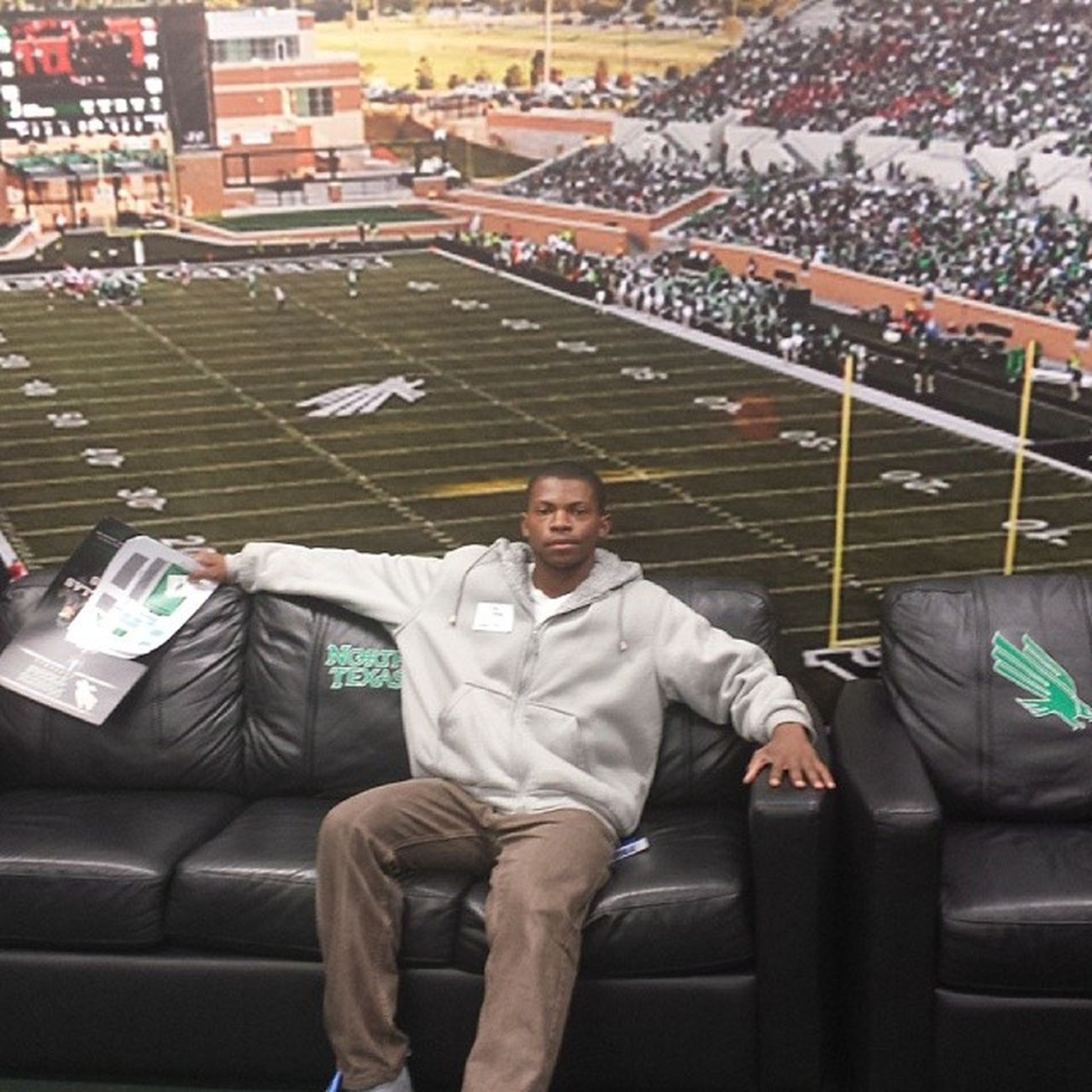 Junior Day at UNT with my son. LetsGetIt