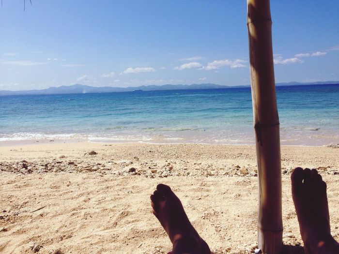 Lazy days in fiji Sea Beach Water Sand Shore Horizon Over Water Human Leg Sky Low Section Nature One Person Barefoot Day Beauty In Nature Human Body Part Scenics Outdoors Close-up People An Eye For Travel
