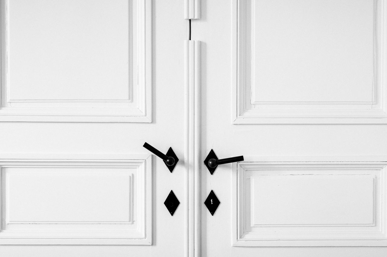 Just door. Just white. Door Front Door Lock No People Doorknob Indoors  Close-up Modern Apartment White All White Minimalism Minimal Straightlines
