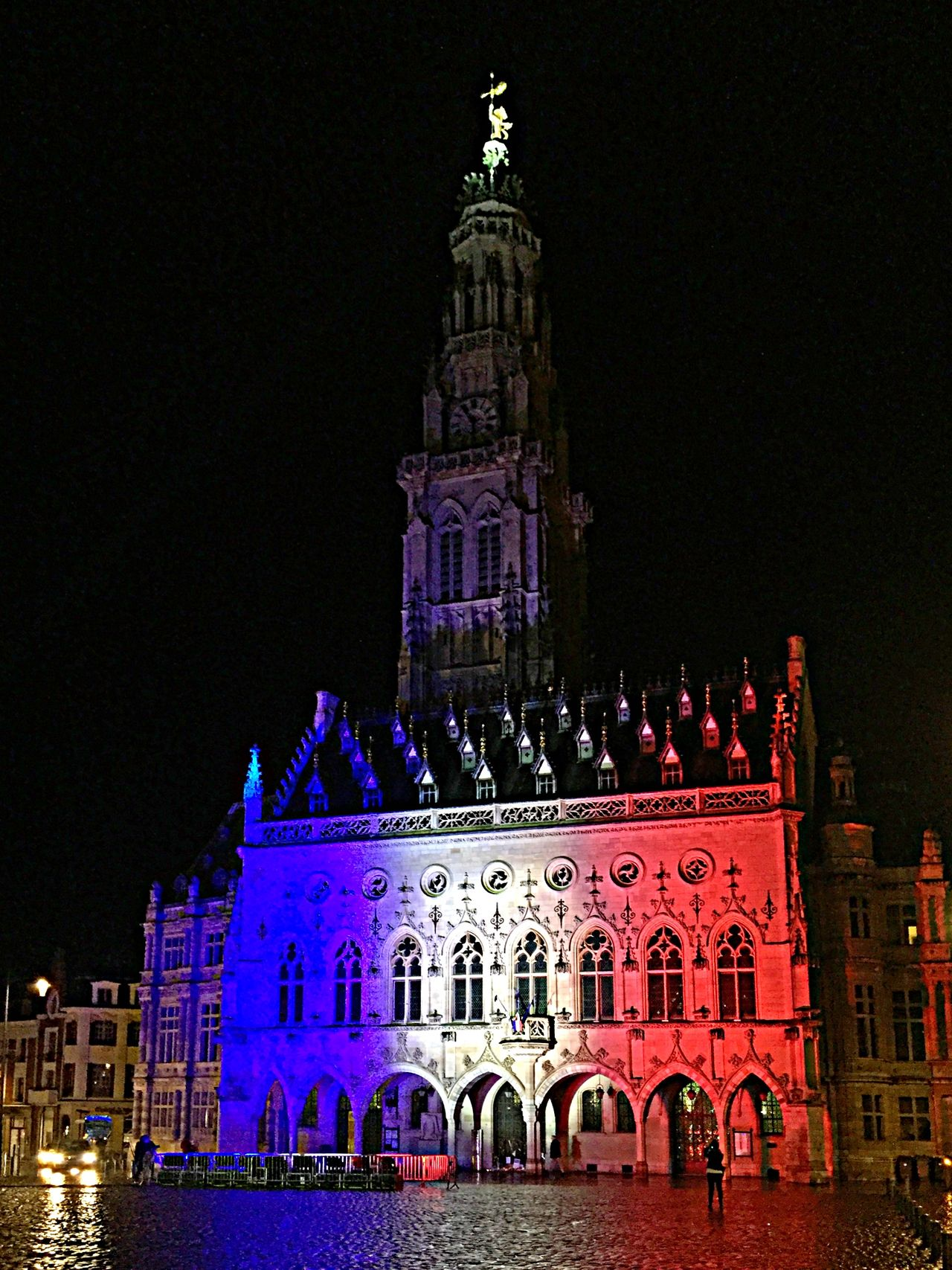 Unilluminated belfry of Arras - Homage to the victims of attacks in Paris - Je suis Paris JesuisParis Jesuisparis❤️ Je Suis Paris Je Suis France/Paris Je Suis France
