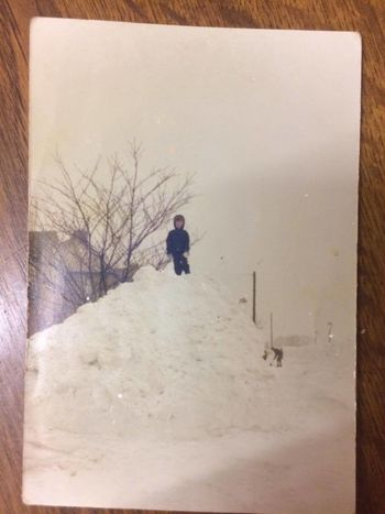 1979 One Person Child Cold Temperature Snow Outdoors Winter snow drift Halifax