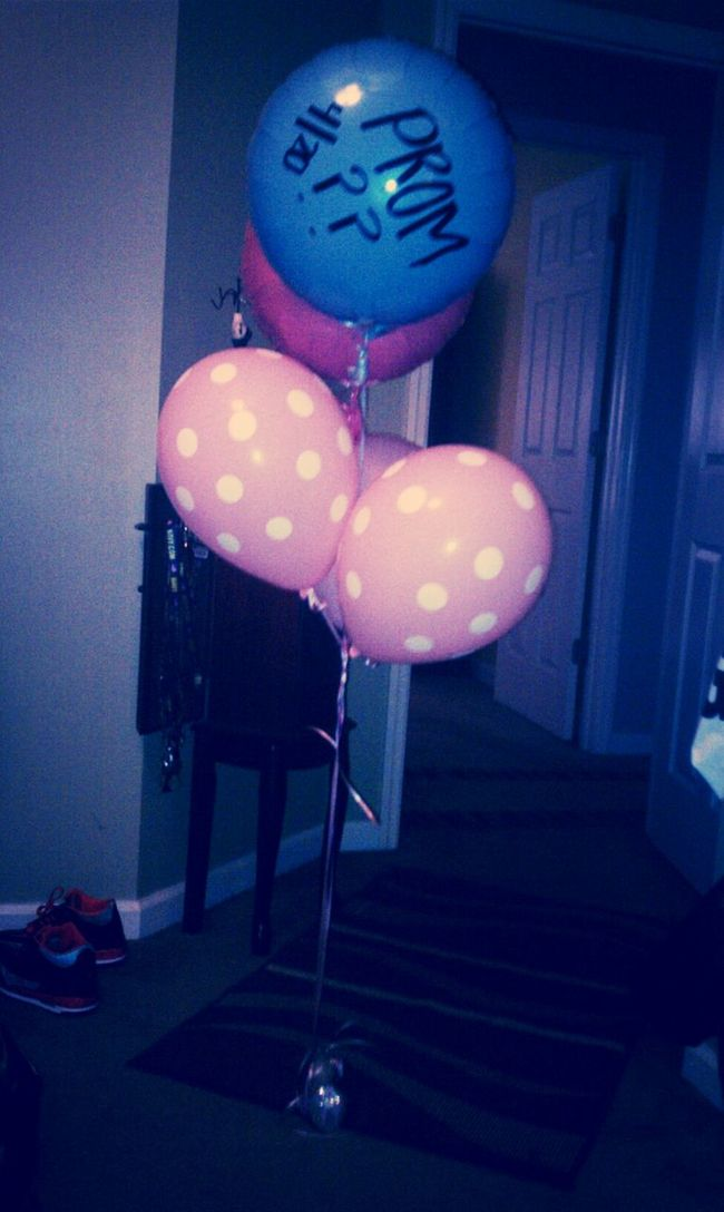 my pretty balloons my prom date got me :)