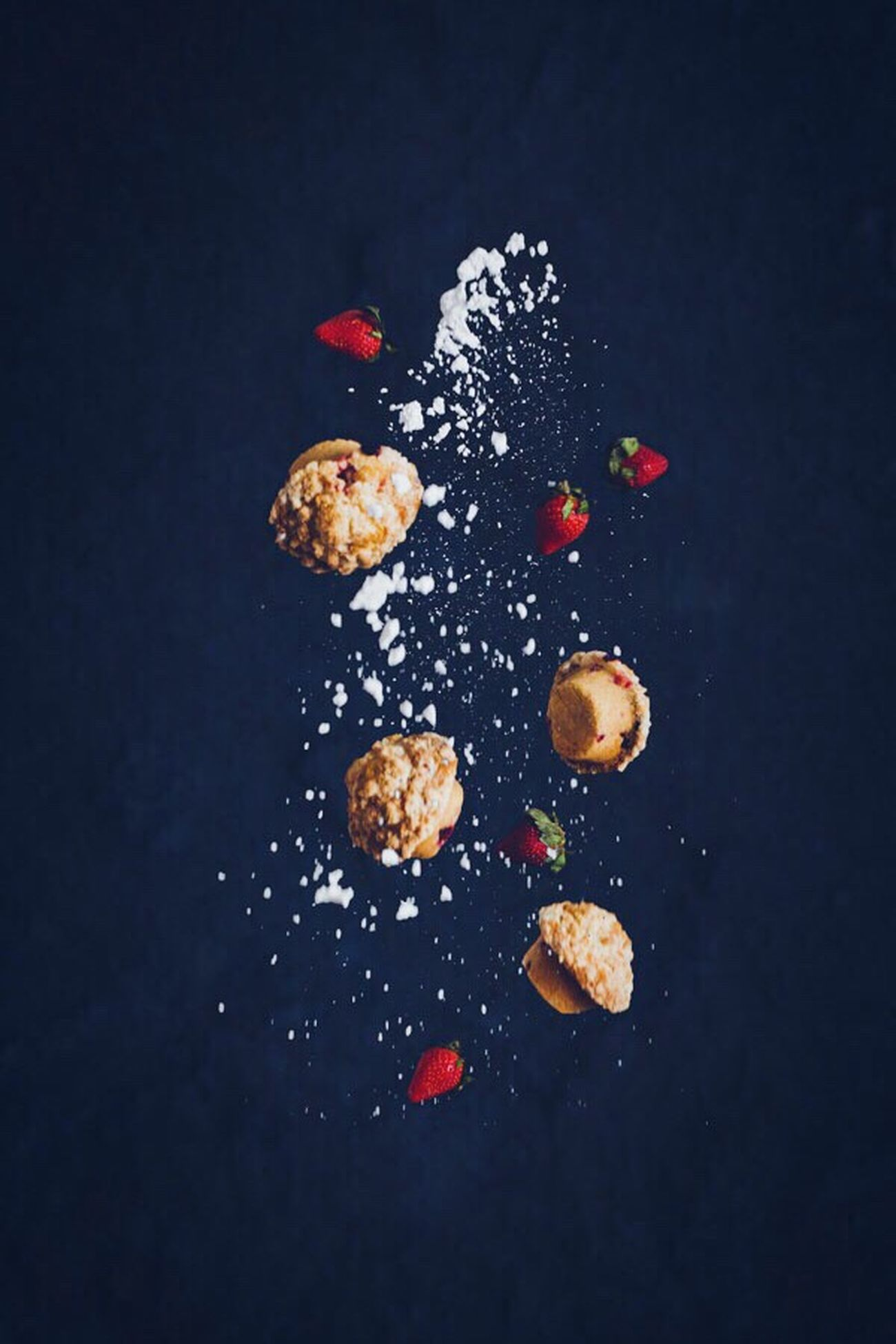 Photography In Motion Baking Muffins Foodphotography Foodstyling Food Weightless Weightlessness Strawberry Cake